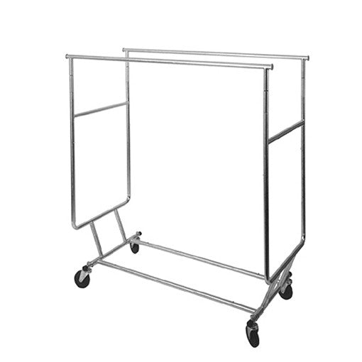 Collapsible Double Round Tubing Rack