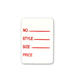 Rectangular Details Adhesive Tags