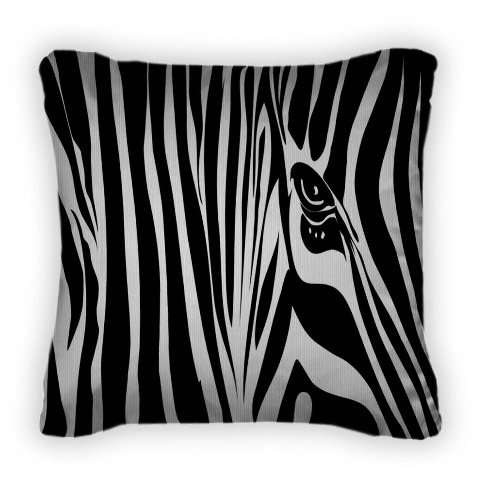 Zebra Throw Pillow With Removable Cover Poplin 14x14 Gn10669