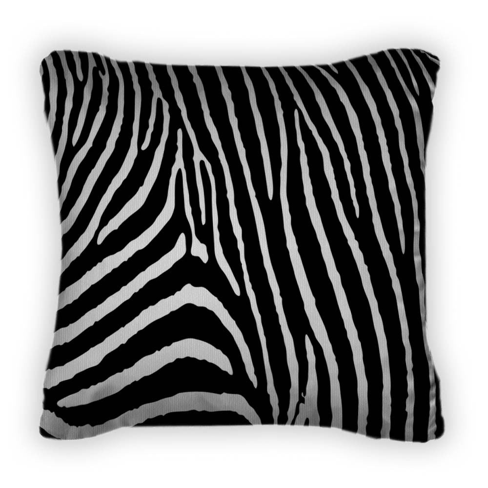 Zebra Pattern Large Throw Pillow With Removable Cover Poplin 14x14