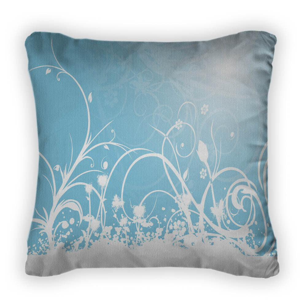 With Grungy Floral Throw Pillow With Removable Cover Poplin 14x14