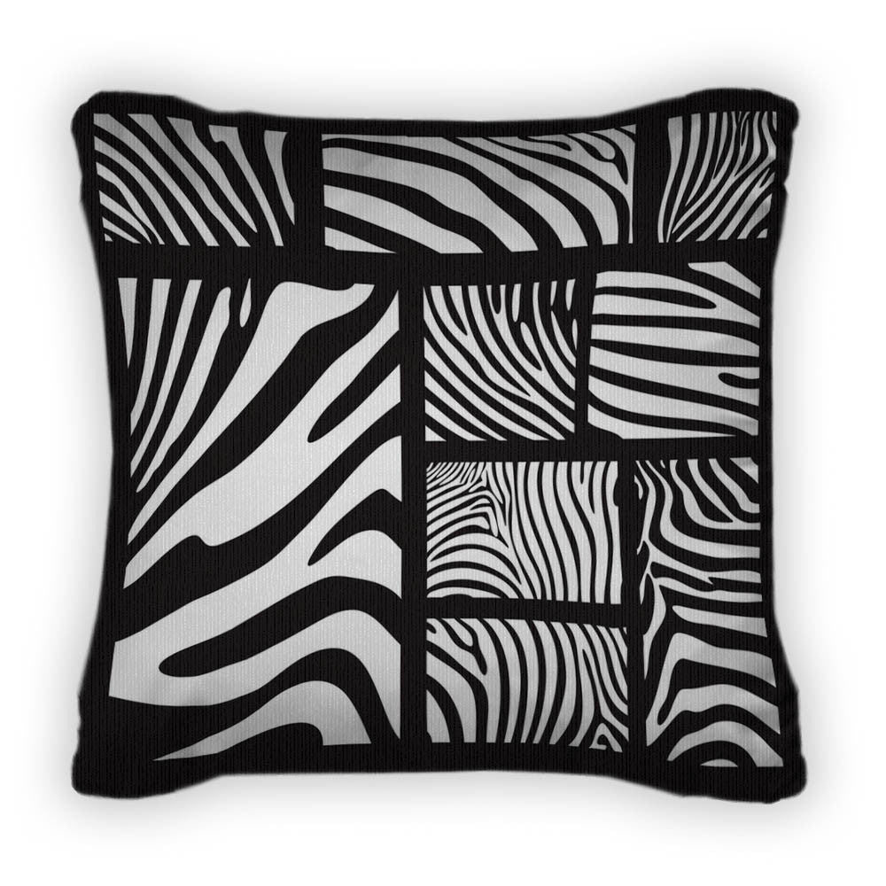 Zebra Throw Pillow With Removable Cover Poplin 14x14 Gn5103