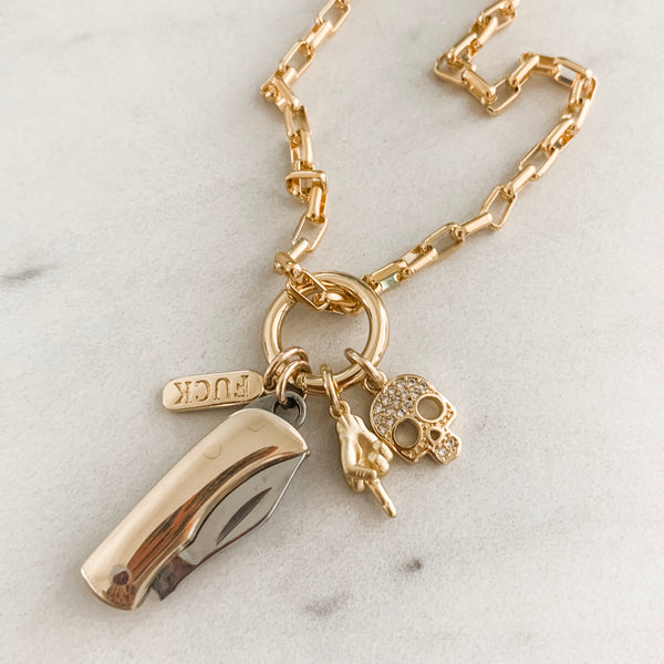 Stay Gold Charm Necklace I