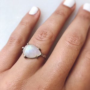 Moonstone Pear Shaped Ring
