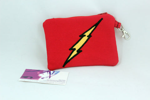 Flash Lightning Bolt Symbol Coin Purse