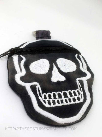 Bonehead Mini Zipper Skull Pouch