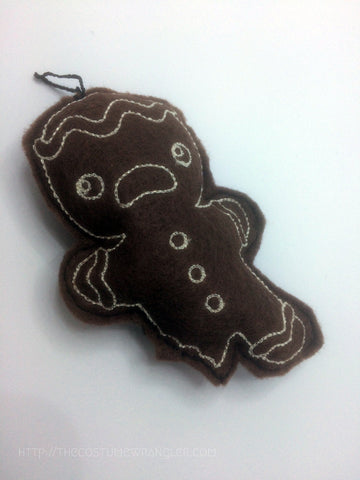Carl the Not-So-Fast Gingerbread Man Plushy Ornament