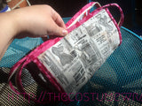 Mega Pocket Zipper Pouch with Corset Fabric