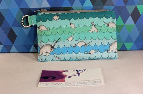 Commotion Causing Narwhal Coin Pouch