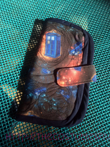 Police Box Folding Fabric Wallet