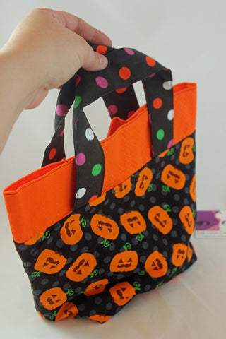 I Mustache You About This Pumpkin Mini Halloween Hag Bag