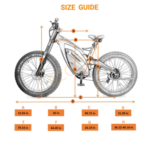 Ecotric Bison Size Chart