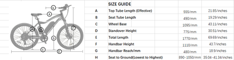 Ecotric Leopard Size Guide