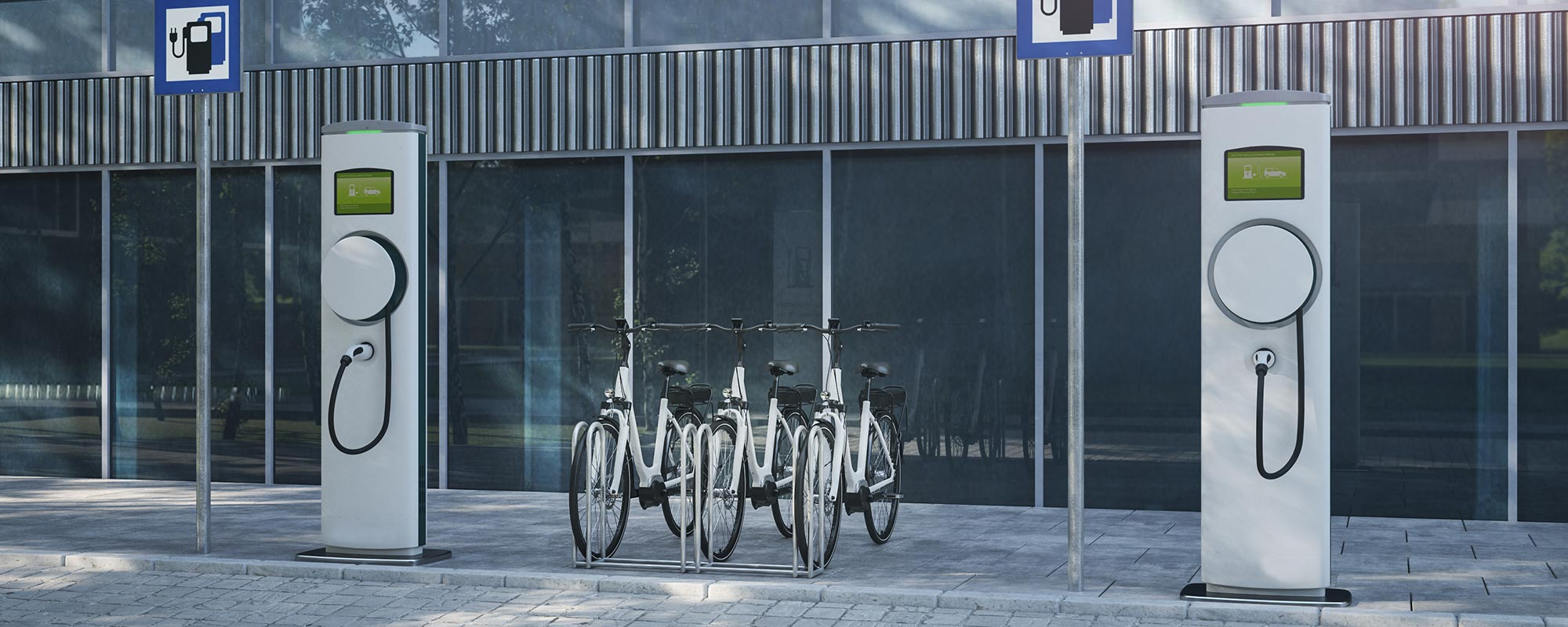 electric bicycle charging station