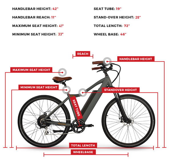 Electric Bike Size Guide 500 Series