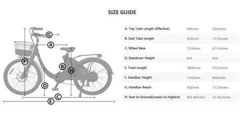 Ecotric Lark Size Guide