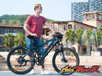 Addmotor Electric Bikes Addmotor HITHOT Platinum Electric Mountain Bicycle 500W 27.5 Inch Full Suspension H-1P