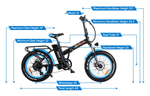 "Addmotor Electric Bikes Addmotor MOTAN M-150 P7 750W 20"" Folding Fat Tire Electric Bicycle"