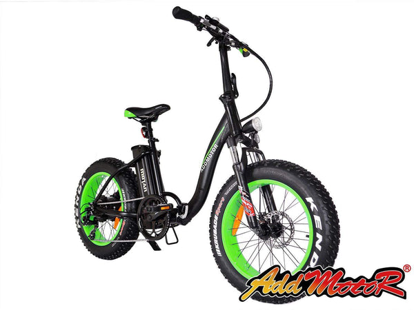 Addmotor Electric Bikes Addmotor MOTAN Step Thru 20 Inch Fat Tire Folding Electric Bicycle 500W M-140