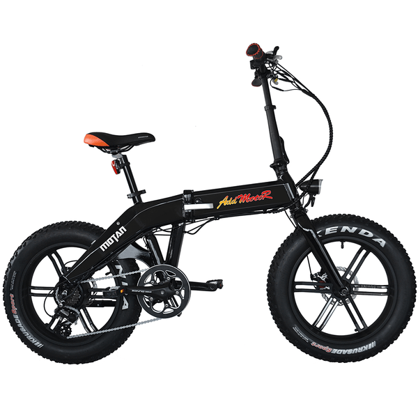 Addmotor Electric Bikes One Size / Black Addmotor MOTAN Electric Bicycle 750W Folding 20 Inch Fat Tire E-Bike M-160 R7