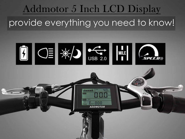 Addmotor Electric Bikes One Size / Black Addmotor MOTAN Step Thru 20 Inch Fat Tire Folding Electric Bicycle 750W M-140 R7