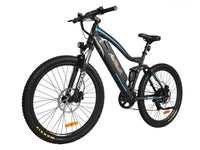 Addmotor Electric Bikes One Size / Blue Addmotor HITHOT Platinum Electric Mountain Bicycle 500W 27.5 Inch Full Suspension H-1P