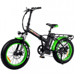 "Addmotor Electric Bikes One Size / GREEN Addmotor MOTAN M-150 P7 750W 20"" Folding Fat Tire Electric Bicycle"