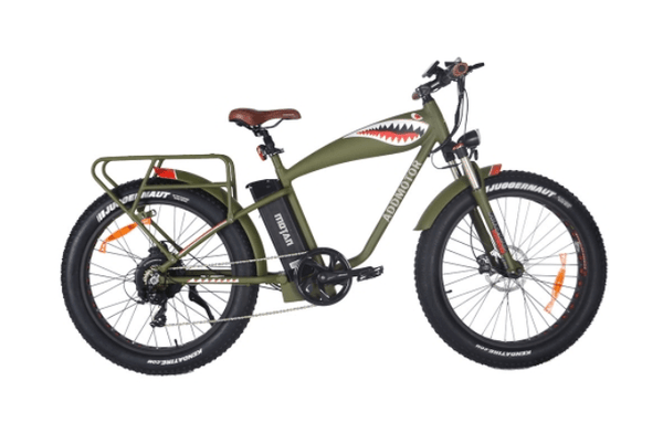 "Addmotor Electric Bikes One Size / Green Addmotor MOTAN M-5500 Flying Tiger 26"" Hunting Electric Bicycle 1000W 48V Battery"