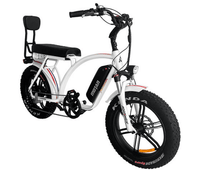 Addmotor Electric Bikes One Size / White Addmotor MOTAN Electric Bike Cruiser Bike 750W 11.6 AH 20 Inch Fat Tire E-Bike M-60 R7