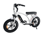 "Addmotor Electric Bikes One Size / White Addmotor MOTAN M-60 R7 750W 11.6 AH 20"" Fat Tire Electric Cruiser Bike"
