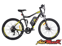 Addmotor Electric Bikes One Size / Yellow Addmotor HITHOT Electric Mountain Bicycle 500W 27.5 Inch E-Bike H-1
