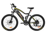 Addmotor Electric Bikes One Size / Yellow Addmotor HITHOT Platinum Electric Mountain Bicycle 500W 27.5 Inch Full Suspension H-1P