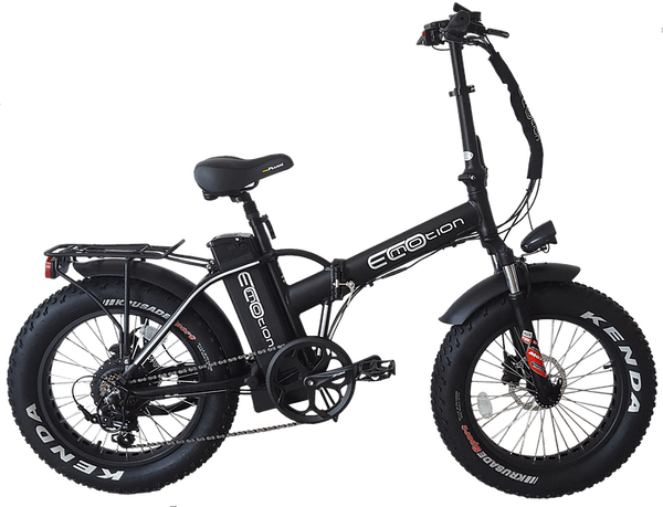 EcoMotion Electric Bikes One Size / Black Mini Pro Electric Folding Fat Bike