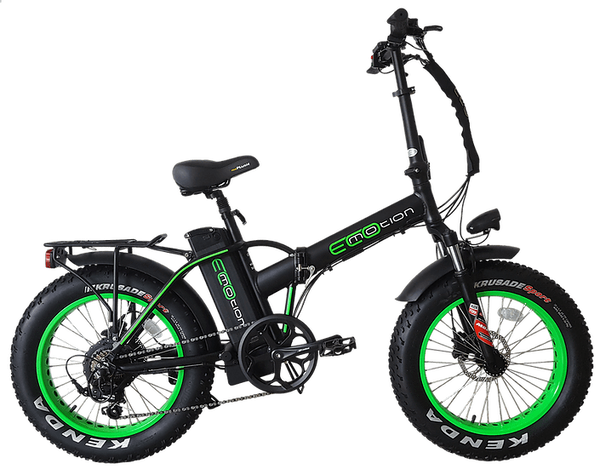 EcoMotion Electric Bikes One Size / Green Mini Pro Electric Folding Fat Bike
