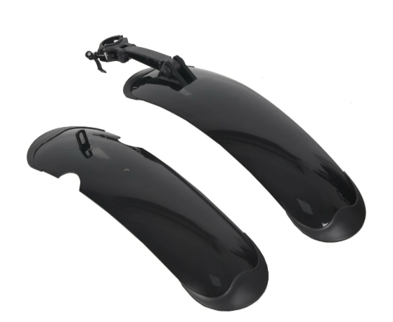 "Ecotric Accessories Black Fenders - Ecotric 26"" Fat Tire and Rocket Electric Bike Fenders"