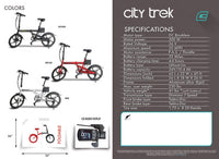Emojo Electric Bikes Emojo City Trek 36V 300W Folding eBike