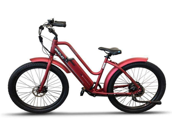 Emojo Electric Bikes Emojo Panther 48V Step Through Fat Tire Cruiser