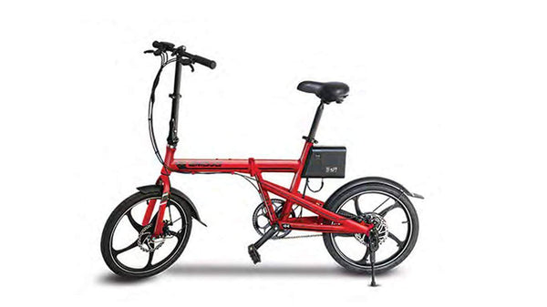 Emojo Electric Bikes One Size / Red Emojo City Trek 36V 300W Folding eBike