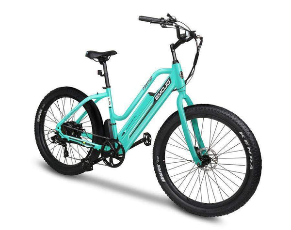 Emojo Electric Bikes One Size / Teal Green / U-Lock Emojo Panther 48V Step Through Fat Tire Cruiser