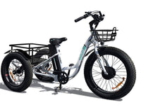 Emojo Electric Bikes One Size / White / U-Lock Emojo Caddy 48V 500W Fat Tire Tricycle eBike