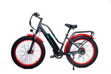 "GreenBike EM26 48V 750W 26"" Electric Fat Tire Cruiser Bike"