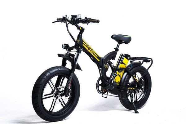 GreenBike Electric Motion Electric Bikes One Size / Black Gold GreenBike Big Dog Off-Road 48V 750W Electric Folding Bike