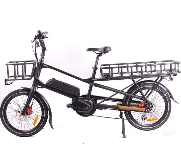 GreenBike Electric Motion Electric Bikes One Size / Black GreenBike Cargo 500W 48V 12.8 Ah Electric Cargo Bike