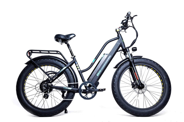 "GreenBike Electric Motion Electric Bikes One Size / Black GreenBike EM26 48V 750W 26"" Electric Fat Tire Cruiser Bike"