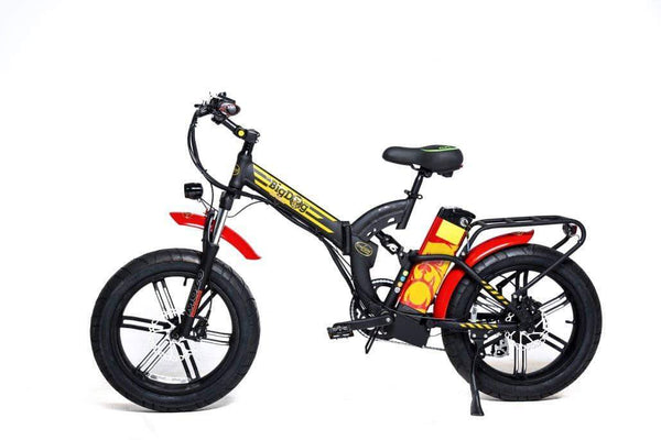 GreenBike Electric Motion Electric Bikes One Size / Black Red Gold GreenBike Big Dog Off-Road 48V 750W Electric Folding Bike