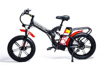 GreenBike Electric Motion Electric Bikes One Size / Black Red Silver GreenBike Big Dog Off-Road 48V 750W Electric Folding Bike