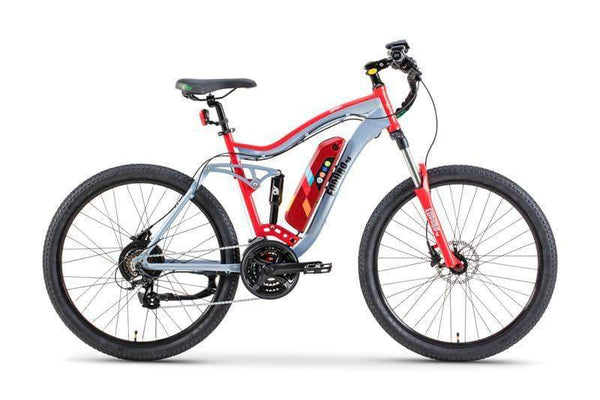 GreenBike Electric Motion Electric Bikes One Size / Gray Red GreenBike Enduro 48V 350W Electric Mountain Bike