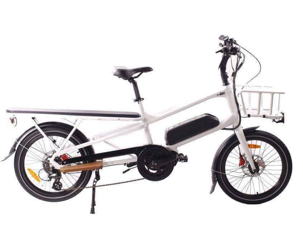 GreenBike Electric Motion Electric Bikes One Size / White GreenBike Cargo 500W 48V 12.8 Ah Electric Cargo Bike