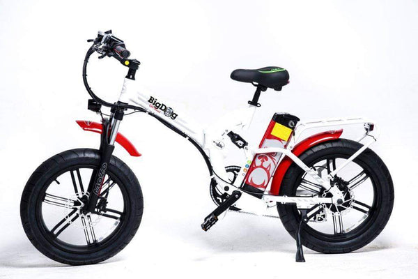 GreenBike Electric Motion Electric Bikes One Size / White Red GreenBike Big Dog Off-Road 48V 750W Electric Folding Bike