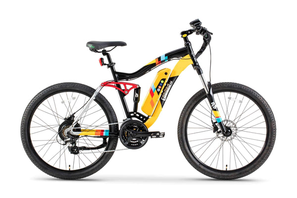 GreenBike Electric Motion Electric Bikes One Size / Yellow Black GreenBike Enduro 48V 350W Electric Mountain Bike